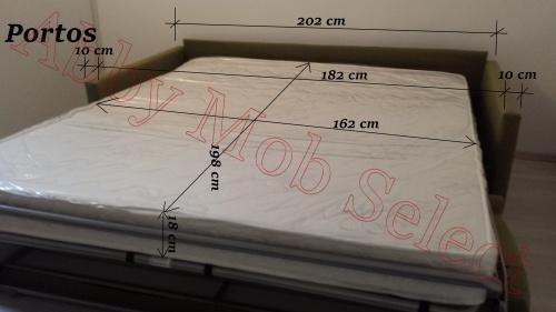 Canapea extensibila cu saltea inclusa - detalii.