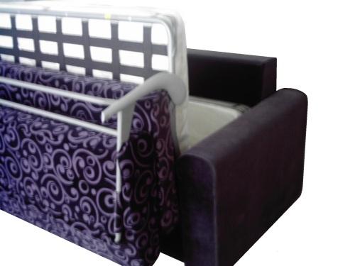 Canapea extensibila cu saltea : Nova - Brate 20 cm.