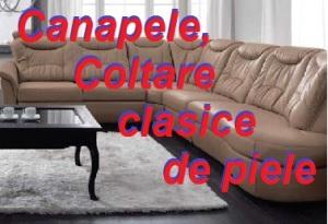 Canapele, coltare clasice de piele.