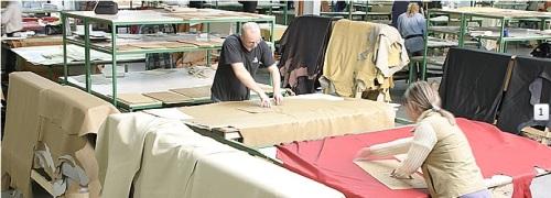 Sectie productie croitorie piele naturala.