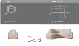 Dalia - Coltar extensibil living room.