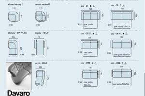 Davaro - Coltare living clasice dimensiuni.