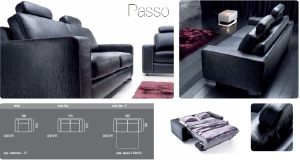 Passo - Canapele din piele cu saltea inclusa.