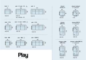 Play - Canapele modulare detalii, dimensiuni.