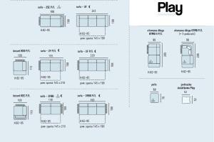 Play - Canapele modulare dimensiunii, detalii.