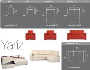 Yariz - Canapele cu fotolii extensibile.