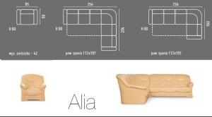 Coltare extensibile din piele stil clasic - Alia.