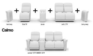 Canapele modulare din piele cu functie relaxare - Calmo.