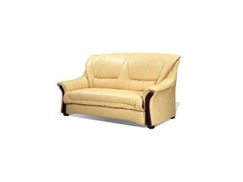 canapea classica piele cu lemn
