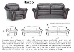 Canapele clasice de piele - Rocco.