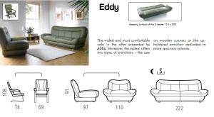 Canapele extensibile din piele cu fotolii - Eddy.