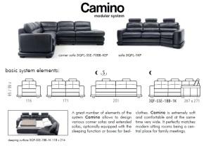 Canapele piele modulare - Camino.
