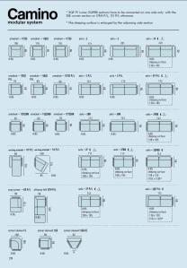 Dimensiuni canapele modulare - Camino.