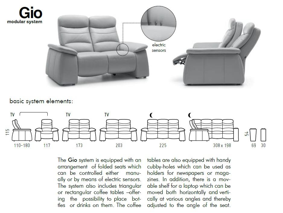 Canapele Ultramoderne Cu Sisteme Relaxare Si Comanda Senzor   Gio.