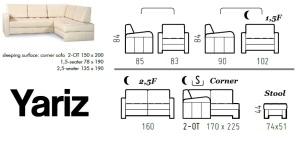 Dimensiuni canapele pentru spatii mici - Yariz.