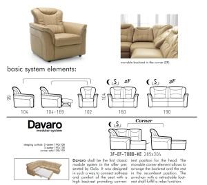 Canapele, coltare clasice din piele - Davaro.