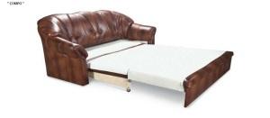 Canapea extensibila stil clasic din piele - Compo.