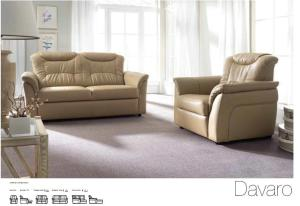 Canapele modulare din piele - Davaro.