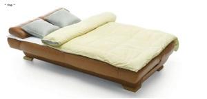 Canapea extensibila din piele - Pop.