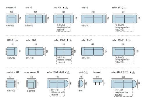 canapele modulare piele