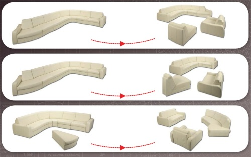 Aranjamente canapele din piele - Meander.