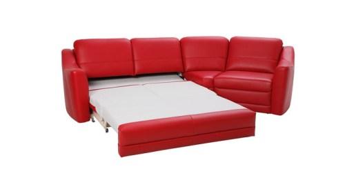Canapele modulare extensibile din piele : Bianco.