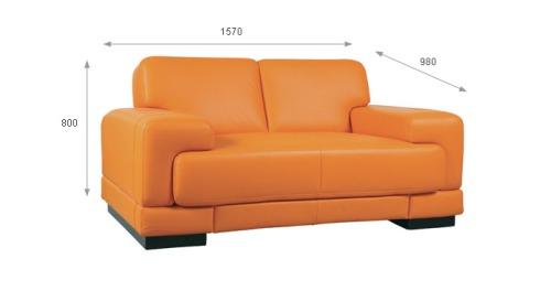 Canapele din piele 2,5 locuri - Felix.