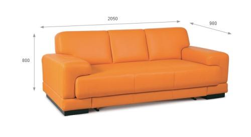 Canapele din piele 3 locuri - Felix.
