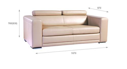 Canapele din piele 3 locuri: Maxx.