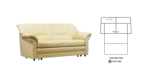 Canapea din piele - Mini Max.