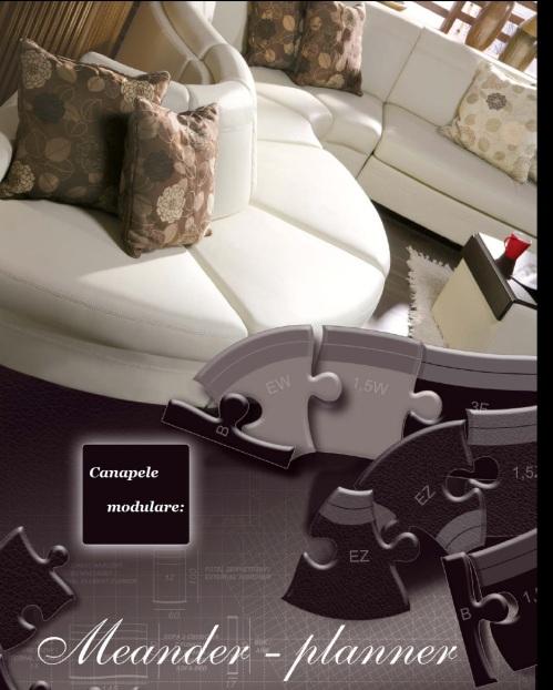 Canapele din piele : Meander.