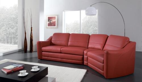 Canapele modulare din piele : Bianco.