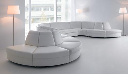 Canapele din piele modulare - Meander.