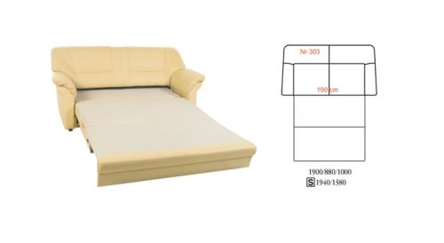 Canapea extensibila din piele: Mini Max.