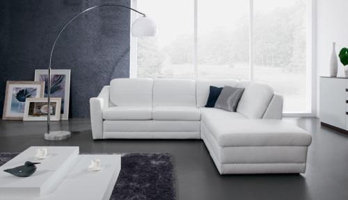 Coltare modulare din piele : Bianco.