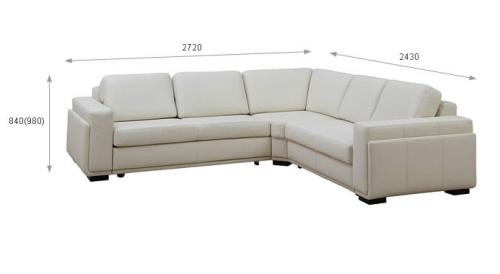 Coltare din piele living room - Marrone.