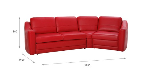 Canapele modulare living room : Bianco.